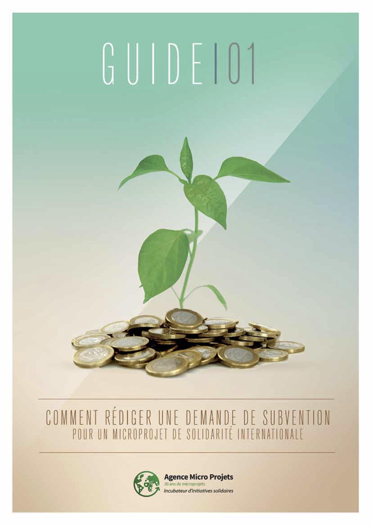 demander une subvention agence microprojet resacoop guide