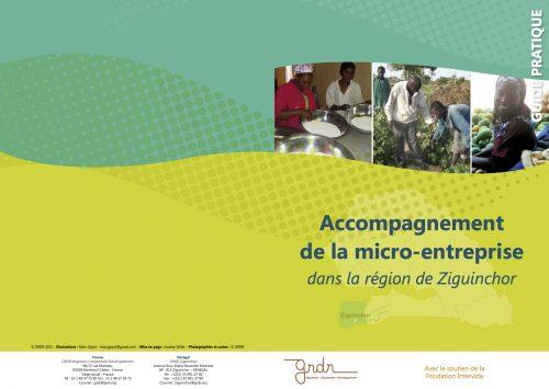Ce guide du Grdr est un document de capitalisation des actions d'accompagnement de micro-entreprises et d'appui/conseil aux porteurs de projets économiques.